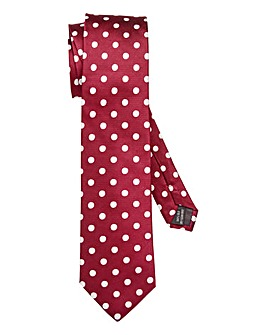 Kensington Wine Silk Spot Tie