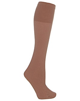 Extra Roomy Warm Ribbed Knee Highs