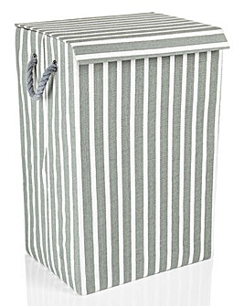 Minky Stripe Laundry Basket