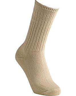 Cotton Mid-Weight Seam-Free Socks