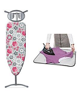 Minky Floral Classic T Leg Ironing Board