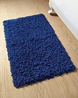 Everyday Twist Cotton Bath Mat Med Blue
