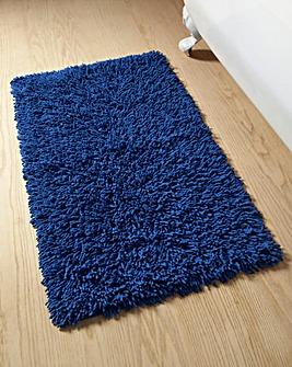 Everyday Twist Cotton Bath Mat Med Blue