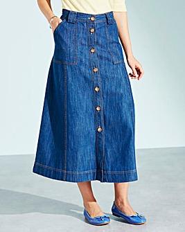 Denim Casual Skirt Length 29in