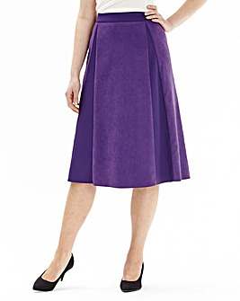 Mock Suede Skirt Length 27in