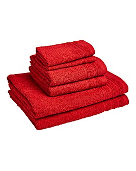 6 Piece Everyday Towel Bale - Red