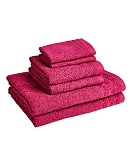6 Piece Everyday Towel Bale - Fuschsia
