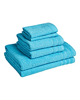 6 Piece Everyday Towel Bale - Aqua
