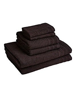 6 Piece Everyday Towel Bale - Black