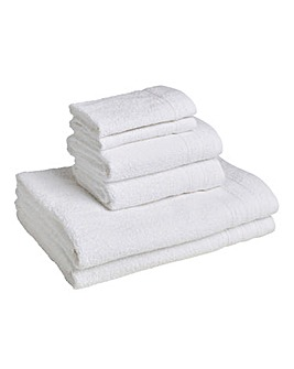 6 Piece Everyday Towel Bale - White