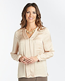 Hammered Satin Blouse