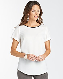 Blouse With Shaped Hem