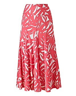 Printed Soft Jersey Skirt Length 32in