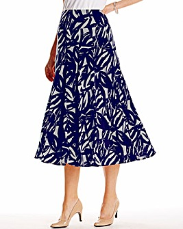Printed Soft Jersey Skirt Length 29in