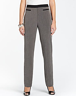 Tapered Contrast Trouser Length 29in