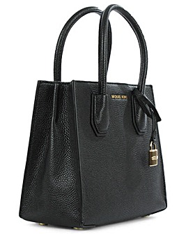 Michael Kors Black Bonded Tote Bag
