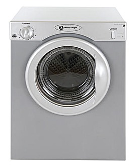 White Knight Reverse 3Kg Dryer - Silver