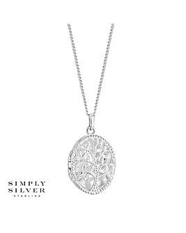 Simply Silver Tree Locket Necklace