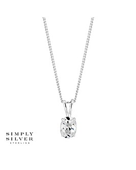 Simply Silver Oval Necklace