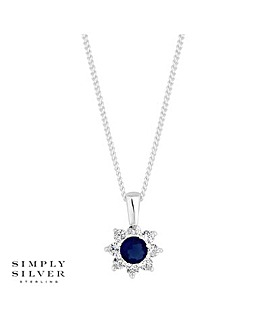 Simply Silver Cubic Zirconia Necklace
