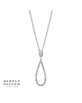 Simply Silver Tear Drop Necklace