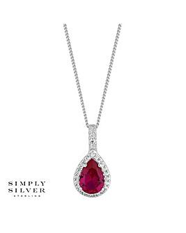 Simply Silver Peardrop Necklace