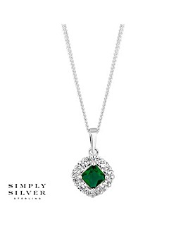 Simply Silver Halo Pendant Necklace