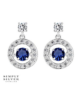 Simply Silver Dancing Gemstone Earring