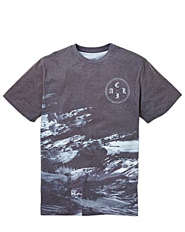 Label J Textured Print Tee Long