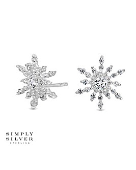 Simply Silver Snowflake Stud Earring