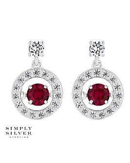 Simply Silver Dancing Gemstone Earring