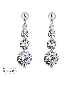 Simply Silver Triple Drop Earring