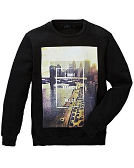 Label J City Print Crew Sweat Long
