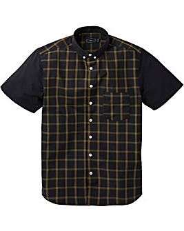 Label J Block Short Sleeve Check Shirt