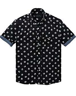 Label J Skull Print Shirt Long