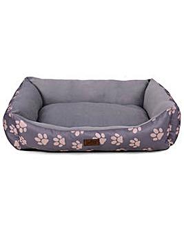 King Pets Medium Rectangular Bed - Grey