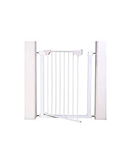 Extra Tall Pressure Fit Pet Gate - White