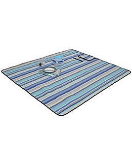 Blue Striped Picnic Rug.
