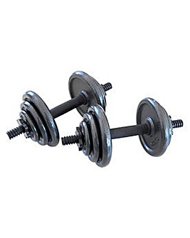 Opti 20Kg Cast Dumbbell Set.