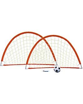 Opti Twin Flexi Football Goal.