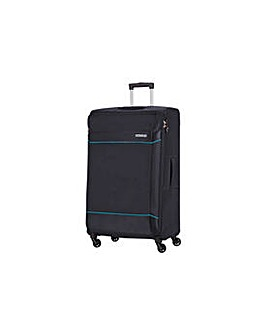 Pearl River 4 Wheel Large Suitcase Black