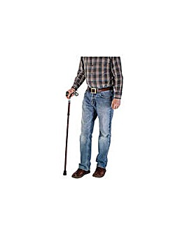 Adjustable Soft Gel Handle Walking Stick