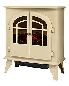 Warmlite 2000W Log Effect Stove Cream