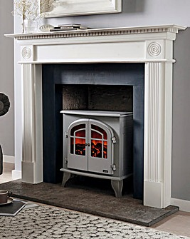 Warmlite 2000W Log Effect Stove Grey