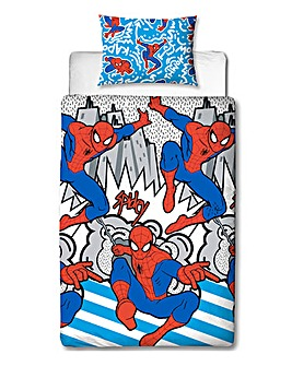 Ultimate SpiderMan Abstract Rotary Duvet
