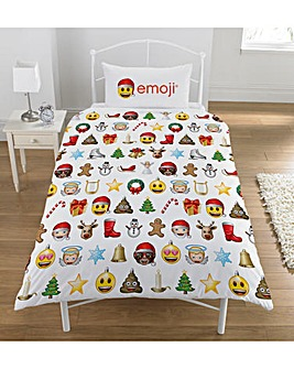 Emoji Christmas Rotary Single Duvet