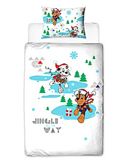 Paw Patrol Christmas Single Panel Duvet