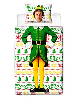 Elf Single Panel Personalised Duvet