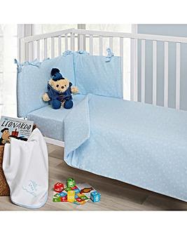 Four Piece Cot/Cot Bed Set