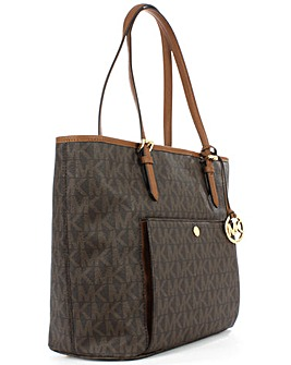 Michael Kors Large Brown Logo Tote Bag